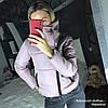 Женская зимняя куртка с высоким воротником на кнопке в расцветках. ДС-43-1118, фото 5
