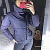 Женская зимняя куртка с высоким воротником на кнопке в расцветках. ДС-43-1118, фото 6