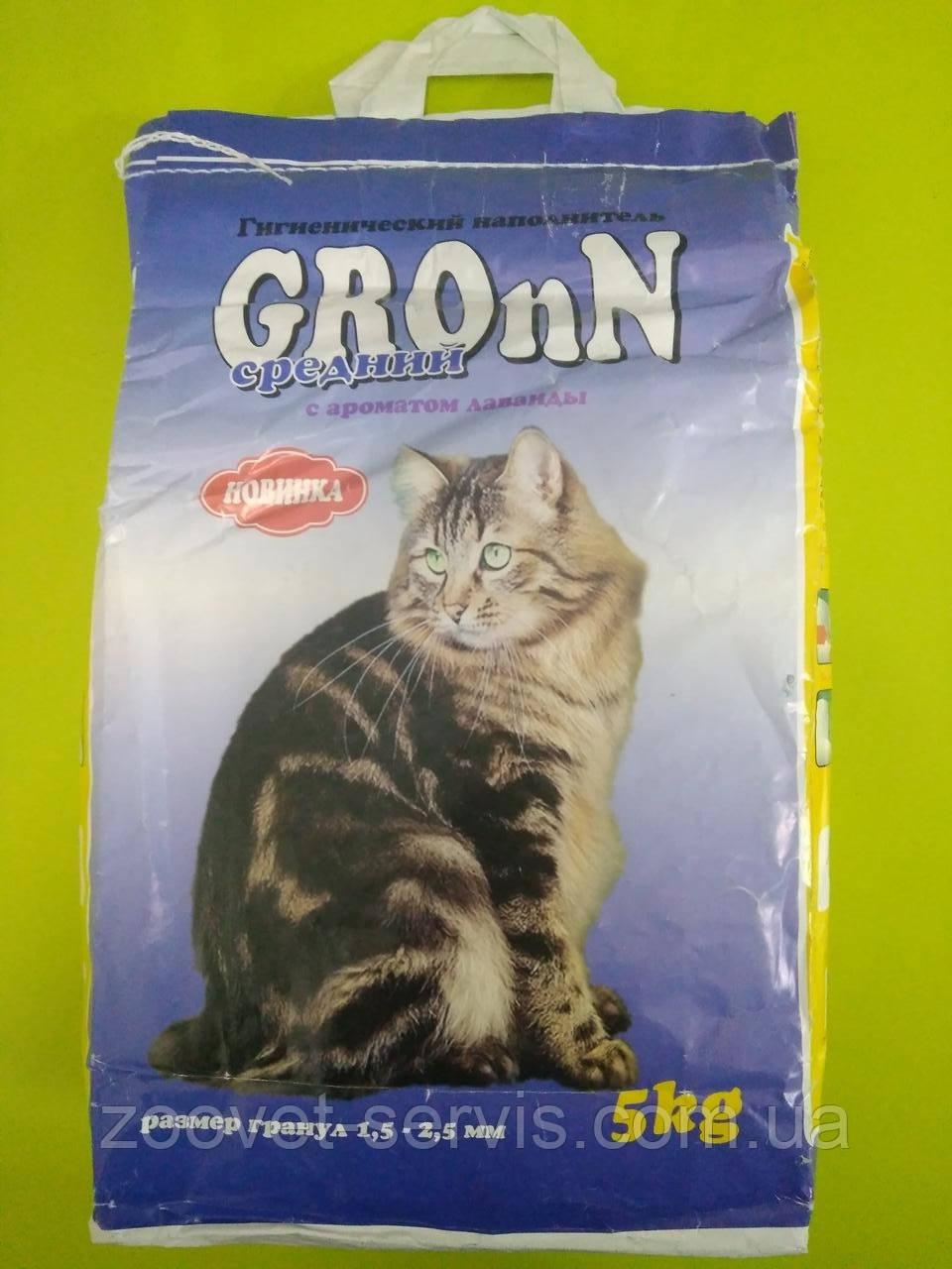 Наполнитель Грон с ароматом лаванды среднийупаковка - 5 кг
