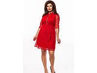 Женское вечернее платье мини 25606 / размер 48,50,52,54 цвет красный