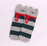 Носки новогодние в полоску