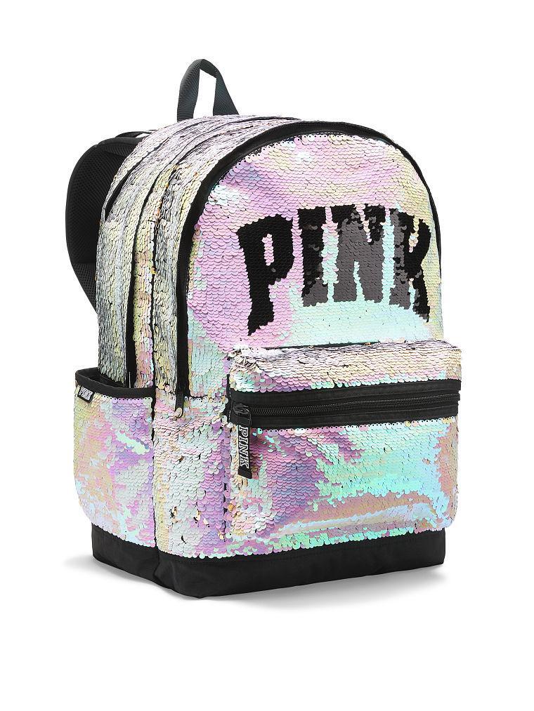 Victoria's Secret PINK Рюкзак с Пайетками Bling Campus Backpack