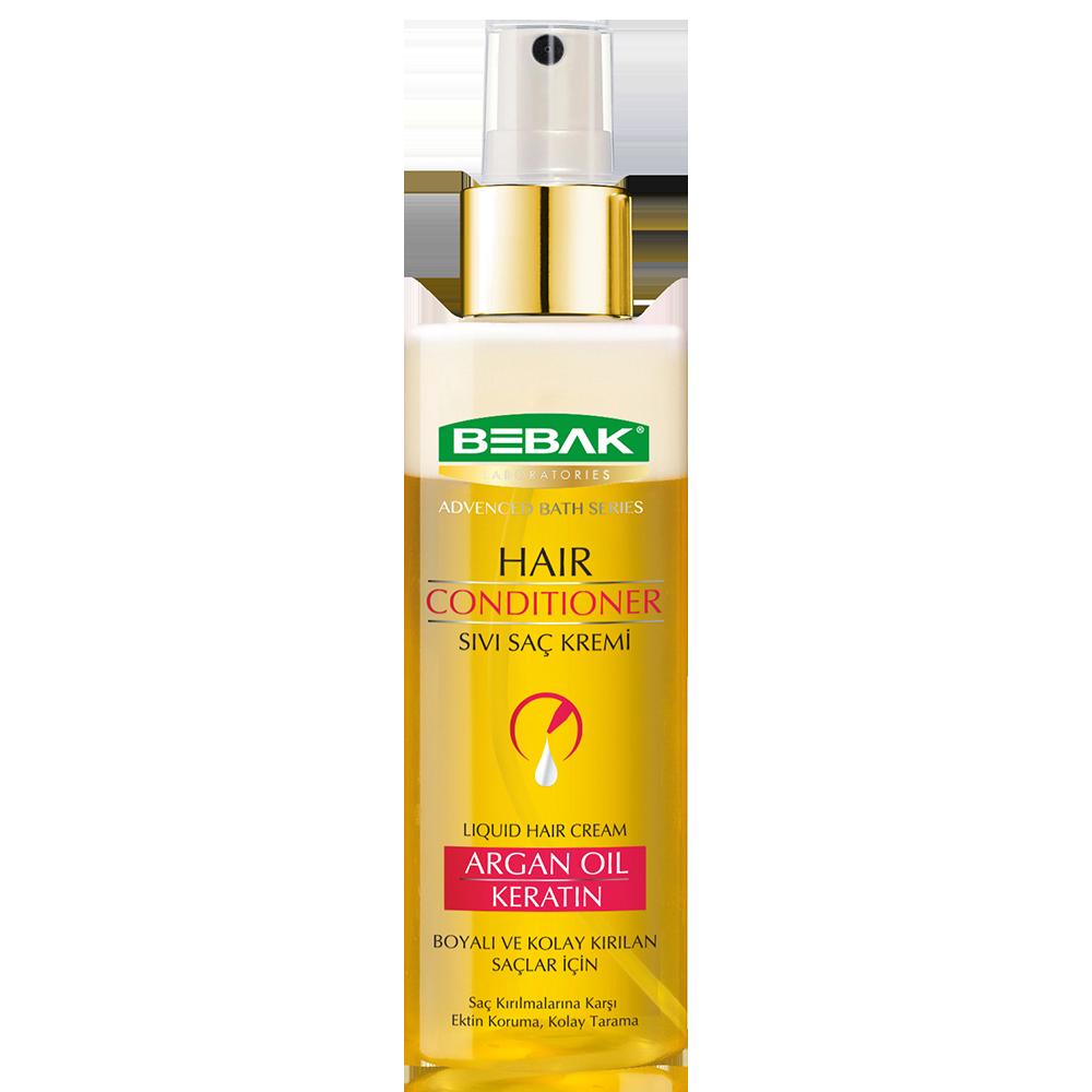 Кондиционер для волос двухфазный с арганой и кератином BEBAK, 160 мл