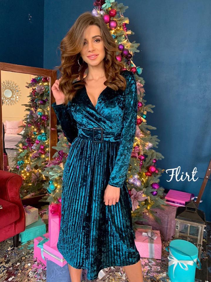 f28c975ee76 Бархатное платье на Новый год (арт. 427067504) - Aleksa - интернет-магазин