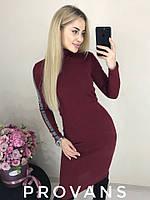 Женское стильное облегающее мини платье Ткань  ангора рубчик, 5 цветов, фото 1