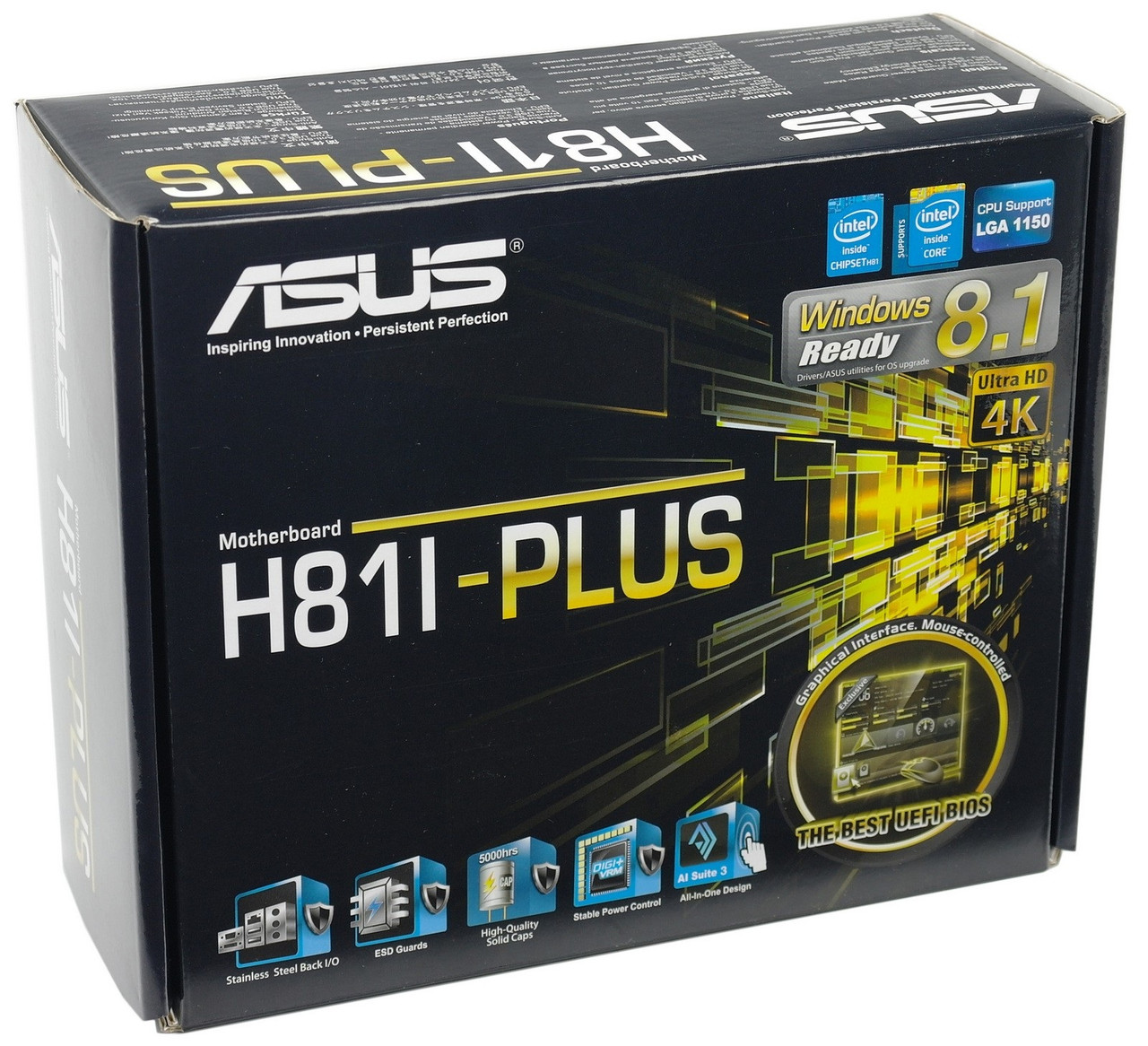 "Материнская плата Asus H81I-Plus s1150 Intel H81 DDR3 ""Over-Stock"" Б/У"