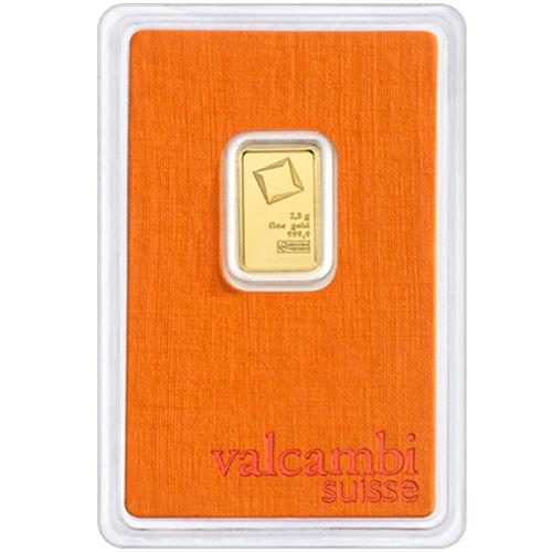 Слиток золота 2.5 грамм Valcambi (Credit Suisse)