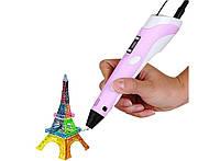 3D ручка c LCD дисплеем Kronos 3D Pen2 Розовая, КОД: 213668
