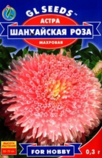 Астра Шанхайская роза - 0.3г - Семена цветов