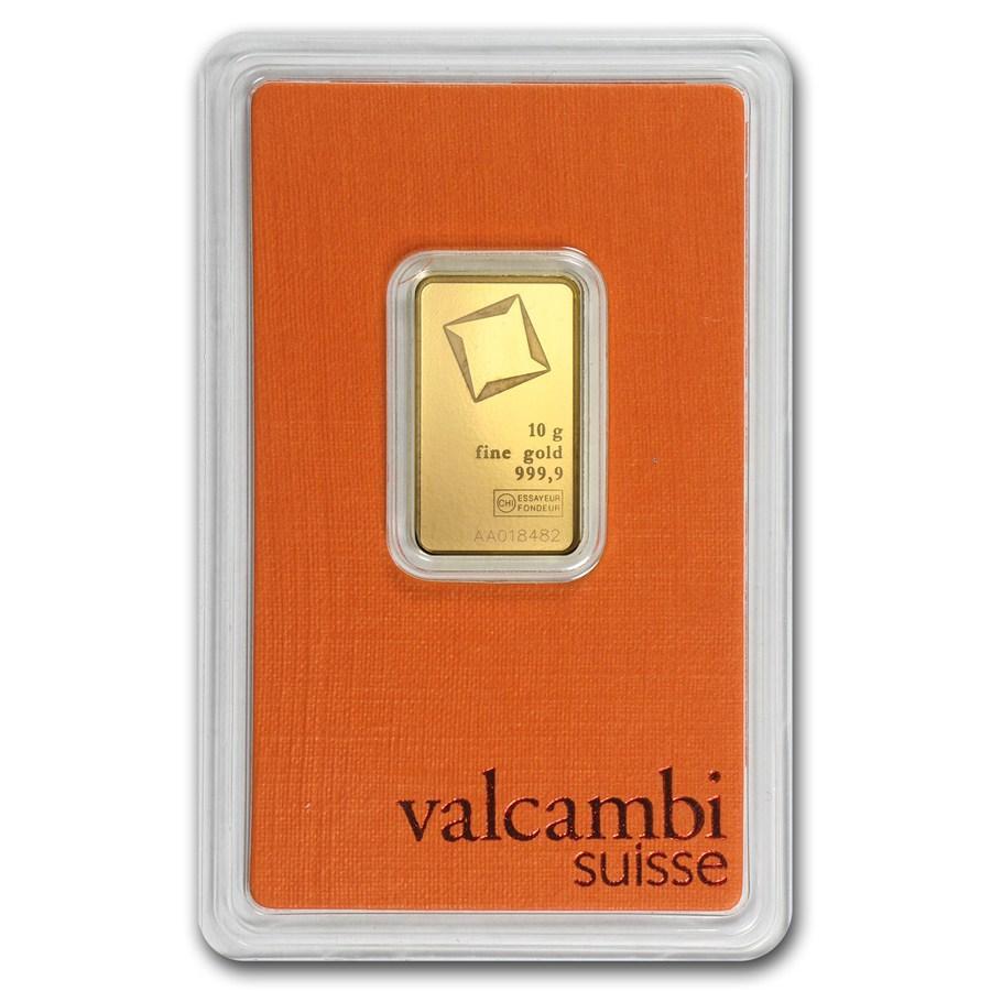 Слиток золота 10 грамм Valcambi (Credit Suisse)