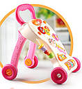 Каталка-ходунки 2303 (ігровий центр,мікрофон,муз,світло) 2 кольори, фото 3