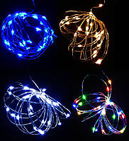Гирлянда на 2-х батарейках нить проволока LED 30 для шаров Вово, декора елки, фото в инстаграм 3 метра 1 шт