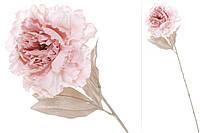 Декоративный цветок Пион с легким глитером на лепестках, 2 вида - нежно-розовый BonaDi 709-340
