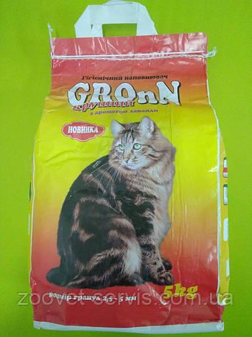 Наполнитель для кошачьего туалета Грон с ароматом лаванды крупный 5 кг, фото 2