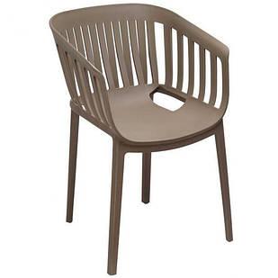 Крісло пластикове кухонне обіднє Патіо (сіре) Domini