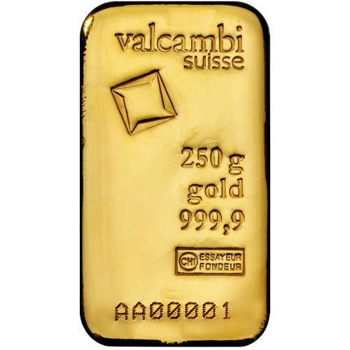 Слиток золота 250 грамм Летой Valcambi (Credit Suisse)