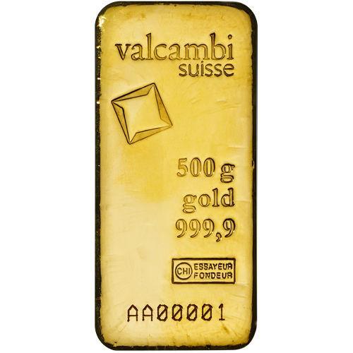 Слиток золота 500 грамм Летой Valcambi (Credit Suisse)