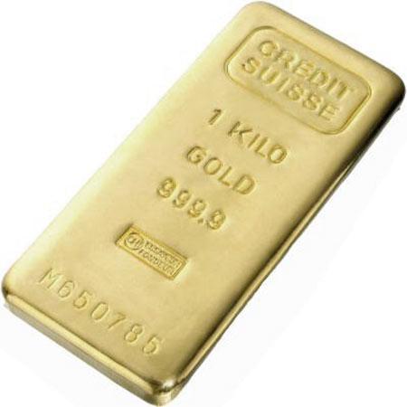 Слиток золота 1000 грамм Летой Valcambi (Credit Suisse)