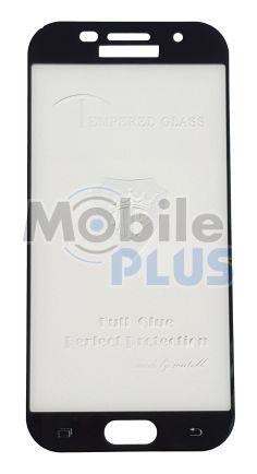 Защитное стекло дисплея для Samsung A5 2017, A520 Black (закаленное стекло) 3D