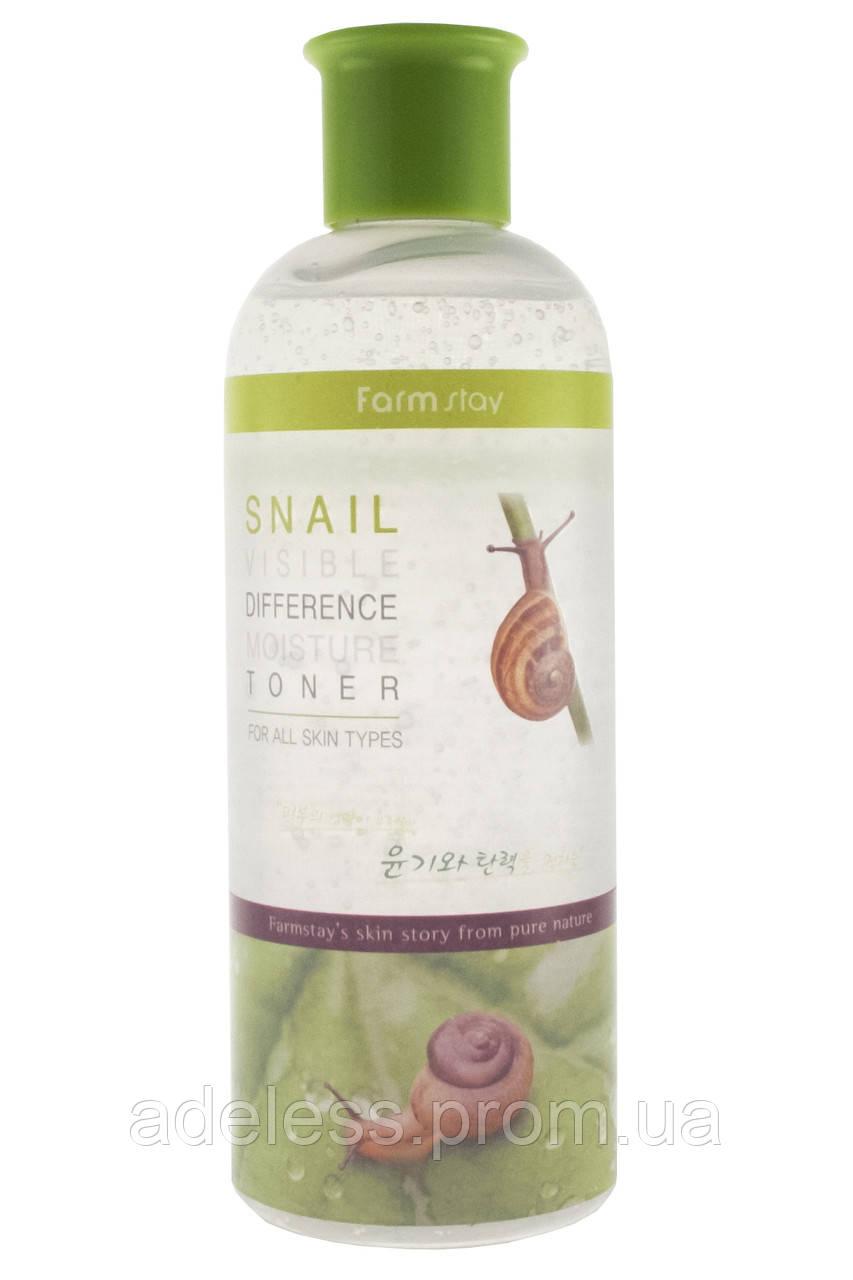 Увлажняющий тонер с экстрактом улитки FarmStay Visible Difference Moisture Toner Snail