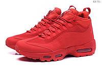 Мужские зимние кроссовки в стиле Nike Air Max 95 Sneakerboot, красные. Код товара : KS 751