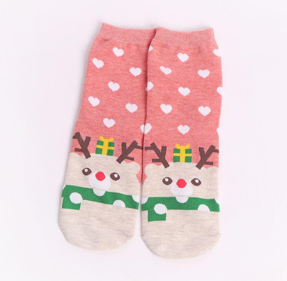 Носочки новогодние с оленями