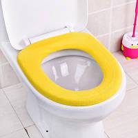 Чехол на унитаз тонкий Sanitary goods, желтый