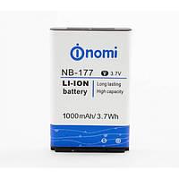 Акумуляторна батарея NB-177 для мобільного телефону Nomi i177 Li-ion, 3,7 В, 1000 мАг, Original