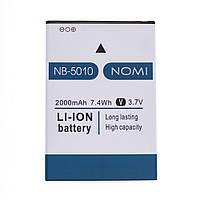 Акумуляторна батарея NB-5010 для мобільного телефону Nomi i5010 Evo M Li-ion, 3,7 В, 2000 мАг, Original