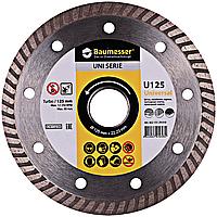 Круг алмазный Baumesser Turbo Universal 125 мм отрезной диск по бетону, кирпичу и тротуарной плитке для УШМ