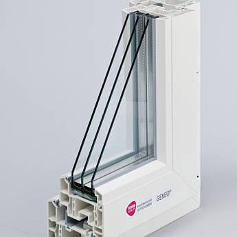 Металопластикове вікно з профілю REHAU Geneo