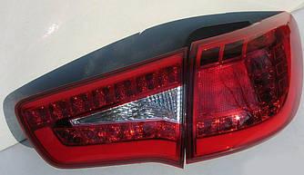 Диодные фонари Led оптика Kia Sportage SL (2010-2013) красные