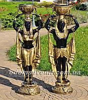 Садовая фигура цветочник Фараон большой и Жрица большая