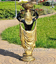 Садовая фигура цветочник Фараон большой и Жрица большая, фото 2