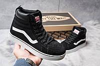 Женские зимние кроссовки на меху в стиле Vans Old School Winter, черные. Код товара: KW - 30725