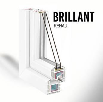 Металопластикове вікно з профілю REHAU Brillant-Design