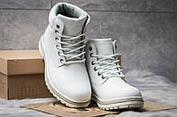 Женские зимние ботинки на меху в стиле Timberland Premium Boot, белые. Код товара KW - 30733