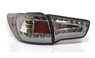 Диодные фонари Led оптика Kia Sportage SL (2010-2013) тонированные