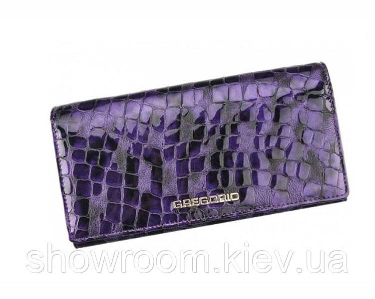 Кожаный женский кошелек Gregorio (S100) фиолетовый