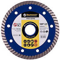 Круг алмазный Baumesser Turbo Stahlbeton Pro 125 мм отрезной диск по армированному бетону и кирпичу для УШМ