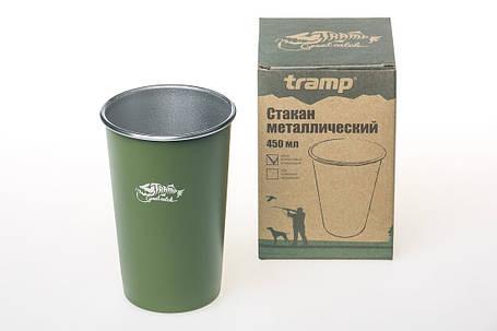 Стакан металлический Tramp 450 мл Оливковый (TRC-099 olive), фото 2