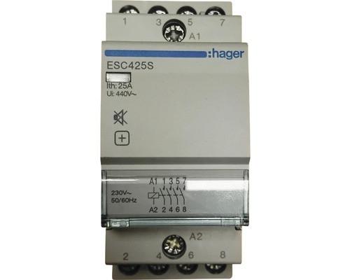 ESC425S Контактор безшумний 25A, 4Н.О, 230В Hager