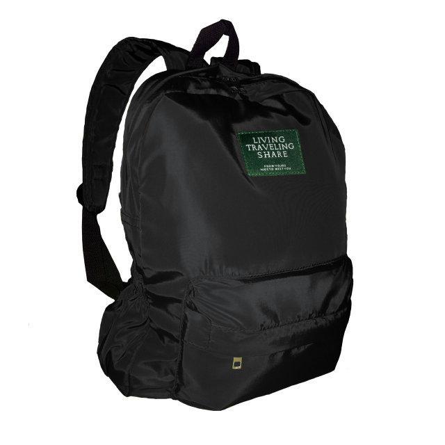6744dbd9a118 Городской рюкзак текстильный женский. Модные рюкзаки черный и зеленый -  prestig.com.ua