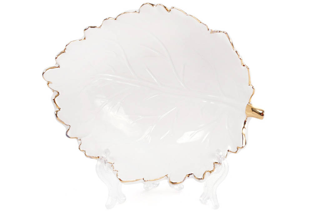 Пиала керамическая Лист с золотой каймой, 260мл BonaDi 945-219