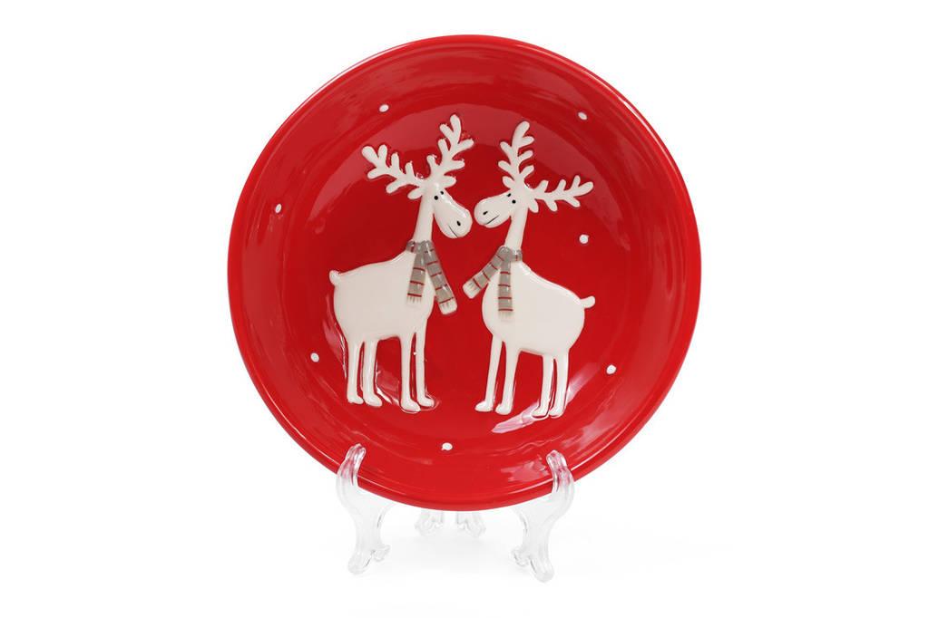 Пиала керамическая Олени 1л, цвет - красный BonaDi 834-142