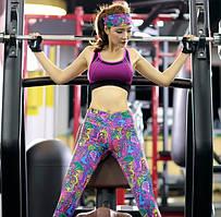 Комплекты одежды для фитнеса, лосины,бриджи.