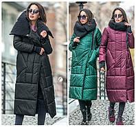 Стильное зимнее пальто в расцветках ВС (116)