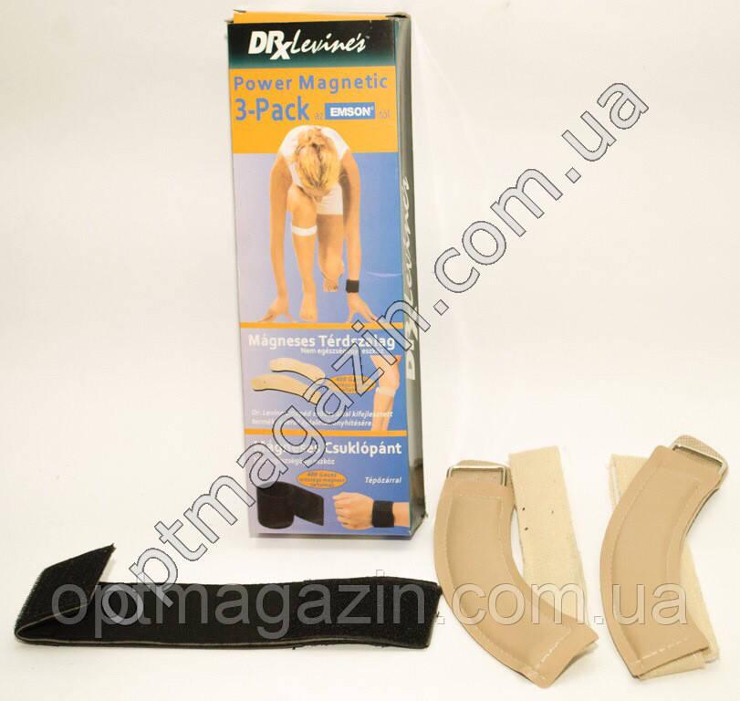 Магнітні пов'язки на зап'ястя і коліно Power Magnetic 3-Pack