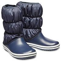 4691fefd1 Сапоги зимние женские непромокаемые дутики Crocs Women's Winter Puff Boot  Женский, 35, Сине-