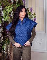 Женская жилетка с коротким рукавом на кнопках, фото 1